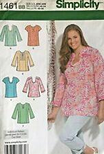 Uncut Simplicity Pattern 1461 Plus Size Womens 20w-28w Top