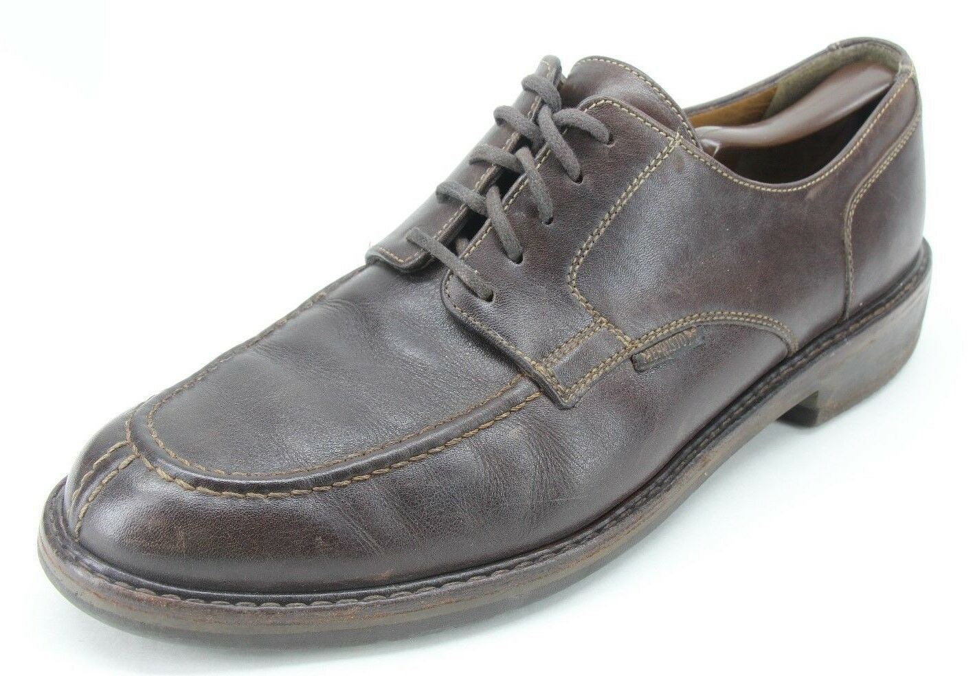 Mephisto Men's Brown Leather Split Apron Toe Derby Oxfords Size US 10.5