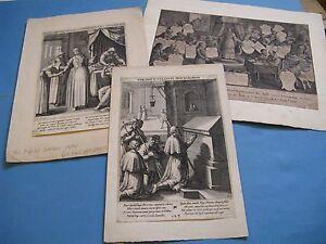 RARE-ENSEMBLE-DE-2-GRAVURES-Signes-RAPHAEL-SADELER-1624-ST-MARGARET-THEODORE
