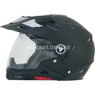 Casco Afx Moto, Cross, Enduro, Quad Fx-55 Solid Color Nero Squisito Artigianato;