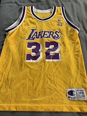 Vintage Champion Lakers Jersey Magic Johnson | eBay