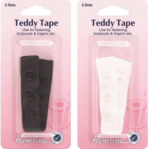Snap Tape 100/% Cotton Tape Press Snaps Bodysuits Hemline 2 x 90mm Teddy Tape