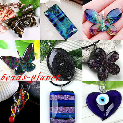 Mix Fashion Smart Lampwork Glass Pendant Bead Animal Murano For SP Necklace