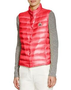 Lightweight 500 Liane Red Vest New Bright Moncler Down Coral Women qAI11SZwF
