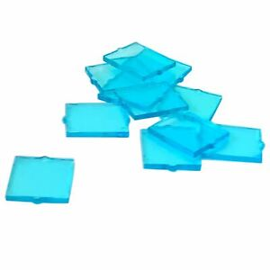 10-NEW-LEGO-Glass-for-Window-1-x-2-x-2-Flat-Front-Trans-Light-Blue