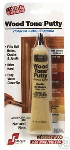Staples Woodtone White LATEX Wood PUTTY  Free Shipping