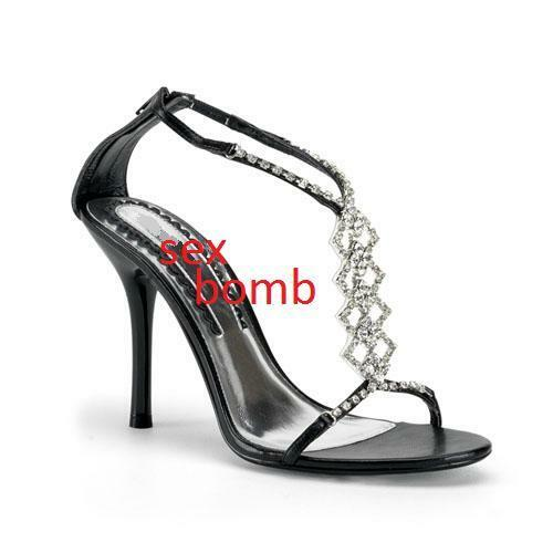 SEXY shoes LUX GLAMOUR SANDALI STRASS TACCO 10 n. 38