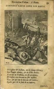 Les Malheurs De La Guerre Gravure Originale 1678