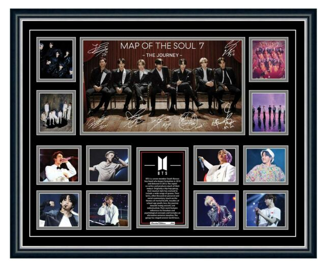 BTS MAP OF THE SOUL 7 2020 K-POP SIGNED PHOTO LIMITED EDITION FRAMED MEMORABILIA