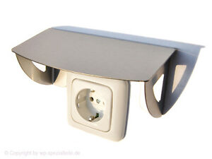 schutzdach f r steckdose spritzschutz abdeckung wetterschutz lichtschalter neu. Black Bedroom Furniture Sets. Home Design Ideas