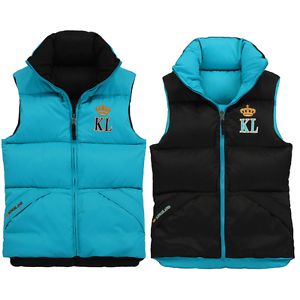Kingsland Chara Señoras Chaleco Body warmer ajustada Reversible Negro Azul rrp