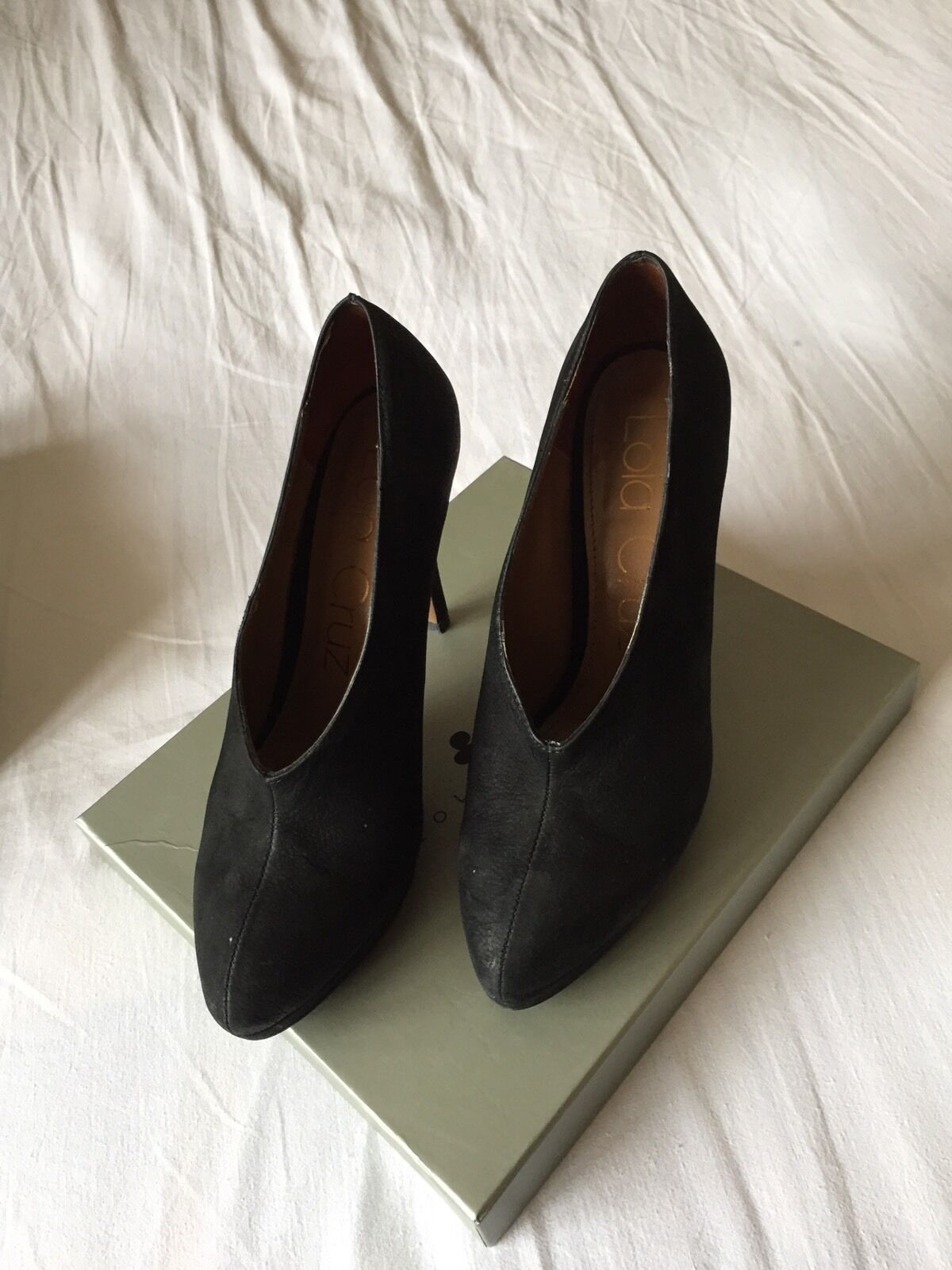 Lola Cruz Negro Zapato Bota Talla 38