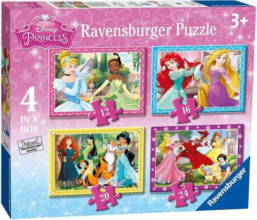 Kids Princess Puzzles 4 Set Box Education Floor Puzzle Sorting Skills Toy Age 3+