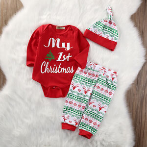 image is loading us stock infant baby girls first christmas clothes
