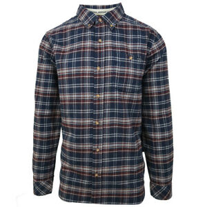 O-039-neill-Men-039-s-Midnight-Blue-Redmond-Plaid-L-S-Flannel-Shirt-Retail-60
