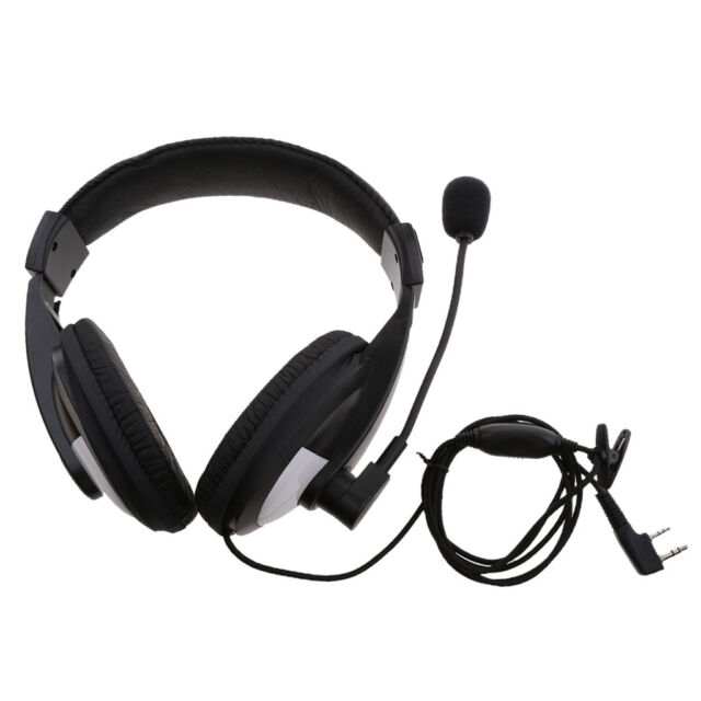 2 Pin Noise Cancelling Overhead Earpiece Headset with Mic for Two Way Radio