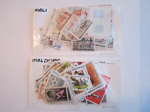 LARGE-LOT-OF-MINT-STAMPS-GRENADA-HUNGARY-MALDIVES-AND-MORE-BOX-OFC-2