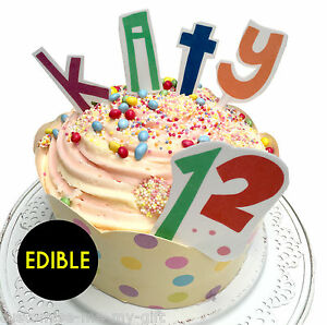 image is loading letter amp number edible rice paper birthday cake