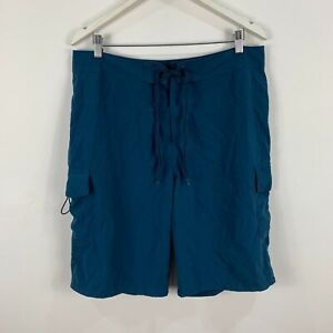 Kathmandu Mens Board Shorts Medium W33-34 Blue Drawstring