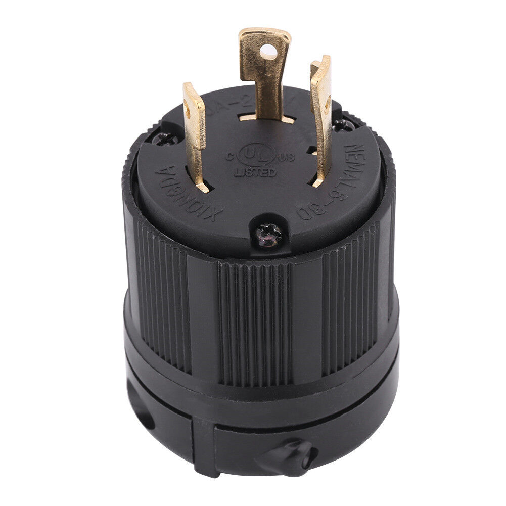 Hot Nema L6 30p 30a 250v 3 Wire Twist Lock Electrical Male Plug Extension Cord Replacement Plugs 15amp 125v Prong Ebay Connector Copper