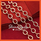 18K ROSE GOLD GF LADIES SOLID 4MM CABLE BELCHER RINGS CHAIN LONG NECKLACE 60CM