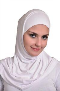 2 Pièce Amira Hijab Coton Shayla Sous Écharpe Coton Nouveau Neuf Avec étiquettes-afficher Le Titre D'origine