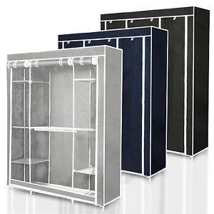 faltschrank stoffkleiderschrank stoffschrank textilschrank kleiderschrank stoff ebay. Black Bedroom Furniture Sets. Home Design Ideas