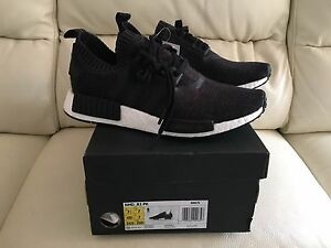 a67e93d15a03c ADIDAS NMD R1 PK PRIMEKNIT BLACK WINTER WOOL ALL SIZES UK 6 7 8 9 10 ...