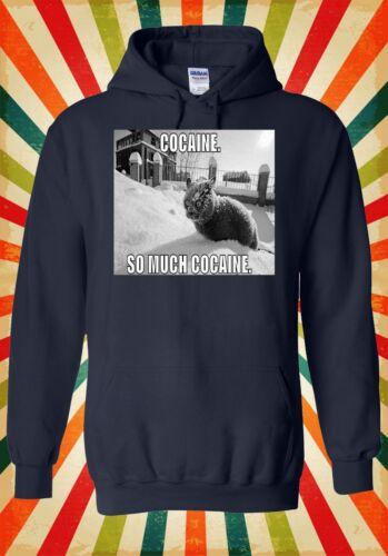 Cocaine Cat Kitten Meow Funny Cool Men Women Unisex Top Hoodie Sweatshirt 1197