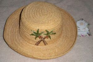 ee6c39887 Details about New womens Cappelli Straworld handmade straw natural fiber  sun hat