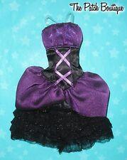 "MONSTER HIGH 17"" ELISSABAT FRIGHTFULLY TALL DOLL REPLACEMENT BLACK PURPLE DRESS"