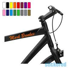 3 x personalizzata BICI BICICLETTA TELAIO nome adesivi per ciclo Mountain BMX RACING