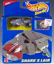 Hot Wheels Sto & Go Shark's Lair Playset With Gray Sharkruiser MIB 1995
