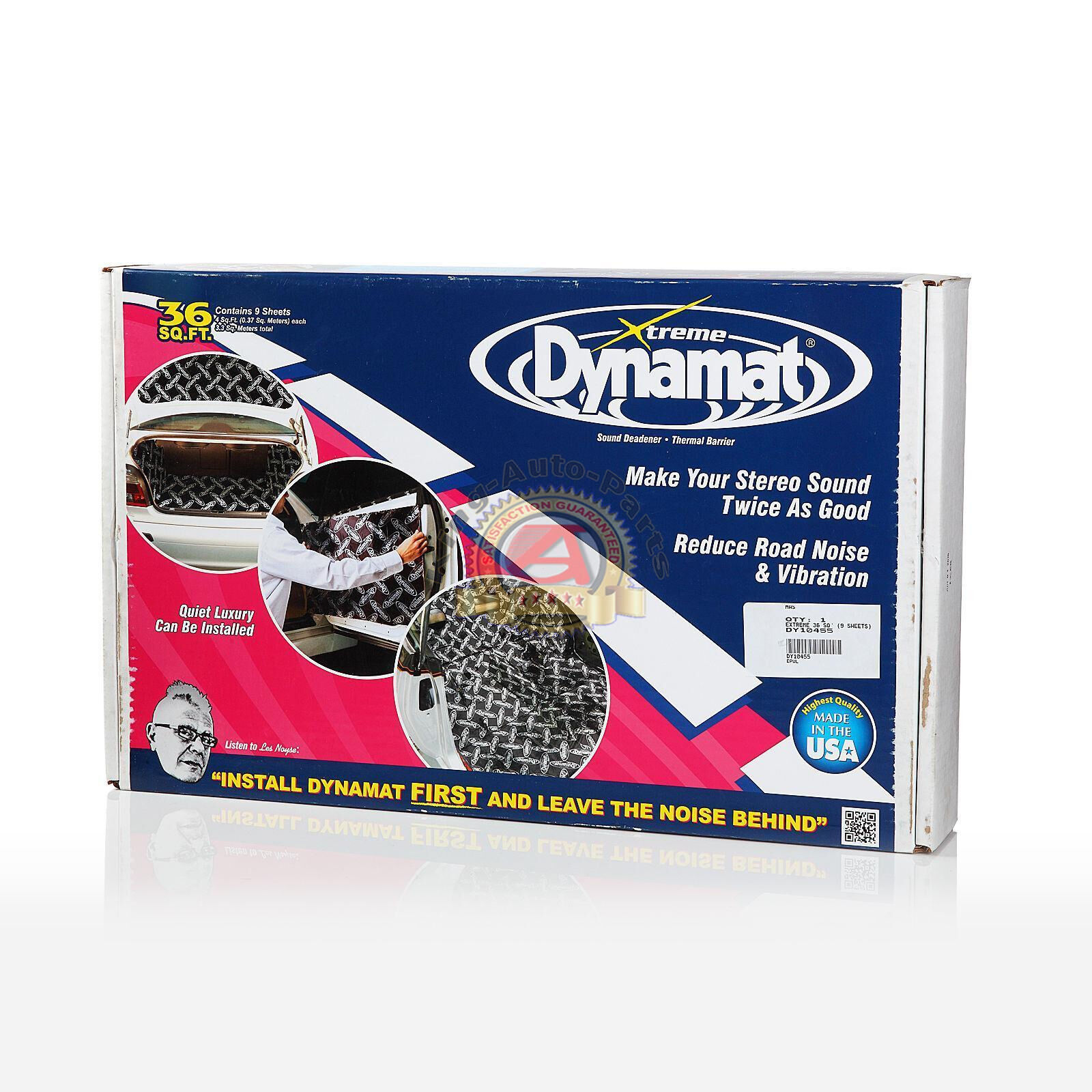 Dynamat 19405 18 x 32 x 0.067 Thick Self-Adhesive Sound Deadener with Xtreme Trunk Kit, Set of 5