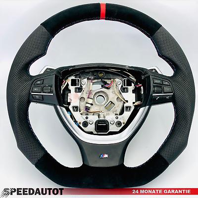 Ricambio Tuning Piatto M-power Alcantara Volante Smg Bmw F10,f11,f12,f13,rosso Pacchetti Alla Moda E Attraenti