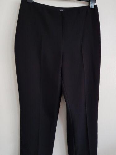 NEW Ex Wall*s 10-16 Black Frill Hem Crepe Crop Trousers Smart Formal Work Wear