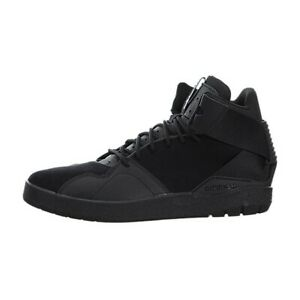 new concept b7a5c 3fe26 Image is loading Youth-Adidas-Crestwood-Mid-J-Black-Black-New-