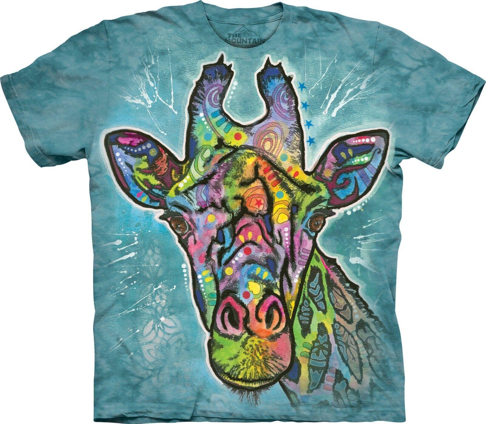 Russo Giraffe Animal T Shirt Adult Unisex The Mountain