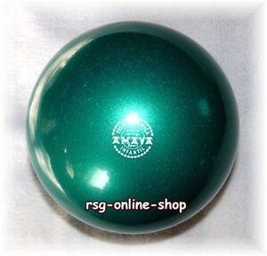 RSG-Ball-JUNIOR-BALL-Gymnastikball-DUNKELGRUN-metallic-150-170mm-300g-NEU