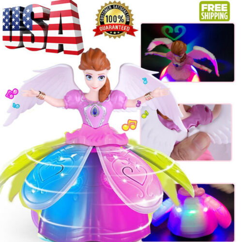 Kid Electric Dancing Doll Toys Baby Musical Toys Flashing LED Light Princess Toy