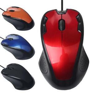 Portable-1800DPI-Cablee-USB-Optique-Gaming-Souris-Mouse-pour-PC-4-Couleurs