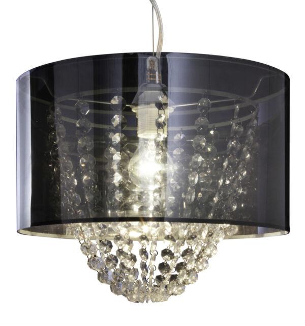 Luminaire suspendu cristal lampe à suspension rond abat-jour Näve Leuchten