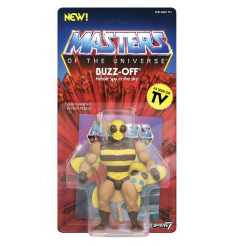 Maîtres de l/'univers Super 7-Buzz-Off non perforé