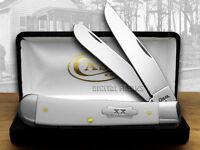 Case Xx White Delrin 1/300 Trapper Pocket Knives Knife on sale