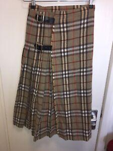 9bca116bf7 BURBERRY Vintage Nova Check Wrap Around Pleated Skirt Checked Buckle ...