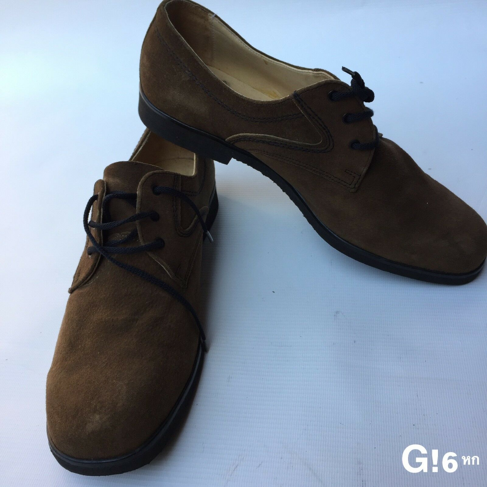 Mens CEBO Size 9 (28cm toe to heel) Leather Brown Lace Up shoes