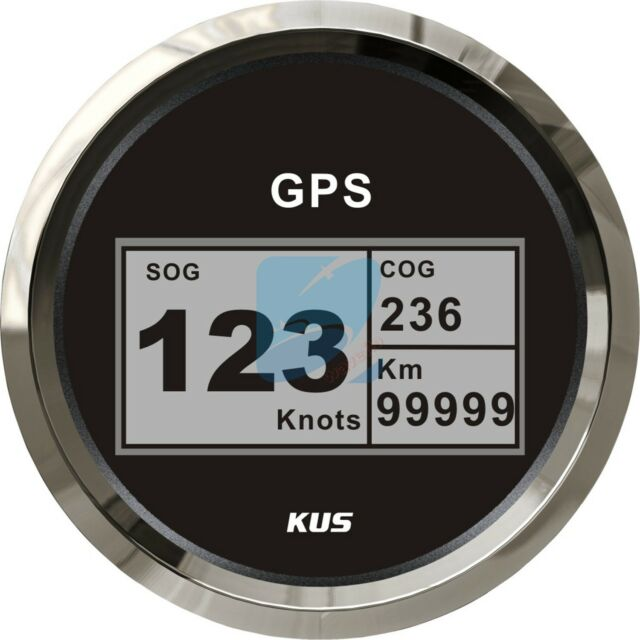 KUS Marine Digital GPS Speedometer Electric Speed Gauge Car Truck Boat 85mm