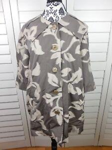 Mischka Badgley femmes pour chic boutons brune décontractées grande à poches veste Manteau florale qEatfq