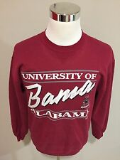 Vtg 90s NCAA University Of Alabama Crimson Tide Red Crewneck Sweater Sz Large