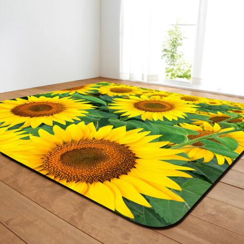 Rug Mat Floor Protecter Living Room Bedroom Area Rugs Carpet 3D Flower Printed